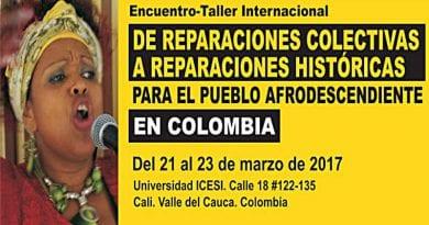 Líderes mundiales afrodescendientes se reunirán en Colombia