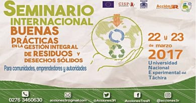 Inicia Este Miércoles Seminario De Gestión De Residuos En Táchira