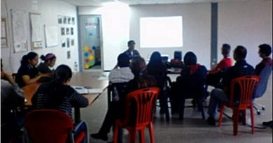 Dictado taller de redes sociales a comunicadores de Vive Andes