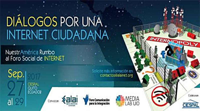 Ecuador será sede del Foro Diálogos por una Internet ciudadana