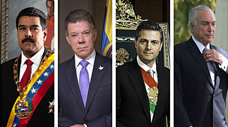 Maduro cuenta con más apoyo que Santos, Temer o EPN